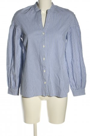 More & More Langarm-Bluse blau-weiß Streifenmuster Business-Look