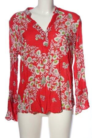 More & More Langarm-Bluse Blumenmuster Casual-Look