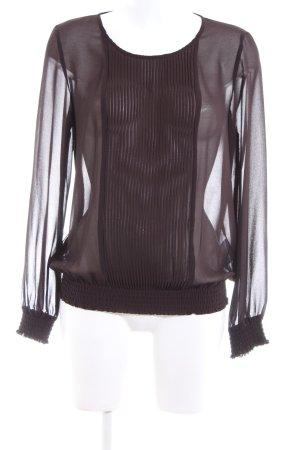 More & More Langarm-Bluse braun Elegant
