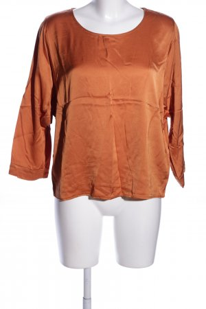 More & More Langarm-Bluse hellorange Business-Look