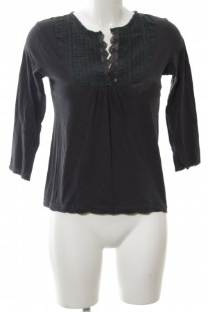 More & More Langarm-Bluse schwarz Casual-Look