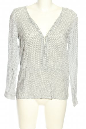 More & More Langarm-Bluse hellgrau-weiß abstraktes Muster Casual-Look