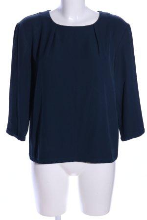 More & More Langarm-Bluse blau Business-Look