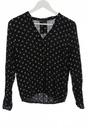 More & More Long Sleeve Blouse black-white allover print casual look