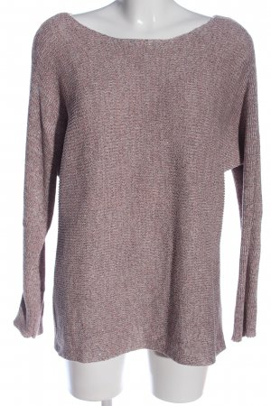 More & More Langarm-Bluse lila Zopfmuster Casual-Look