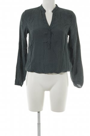 More & More Langarm-Bluse petrol-weiß Punktemuster Casual-Look