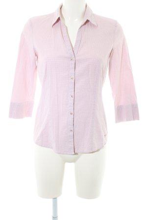 More & More Langarm-Bluse rosé-weiß Karomuster Business-Look