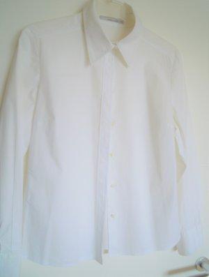 More & More Blouse-chemisier blanc-bleu azur coton
