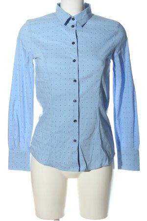 More & More Langarmhemd blau Punktemuster Casual-Look