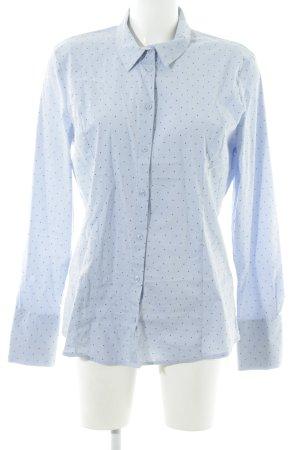 More & More Langarmhemd blau Punktemuster Business-Look