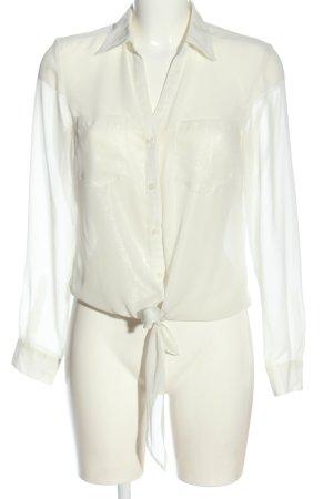 More & More Koszula z długim rękawem w kolorze białej wełny Melanżowy