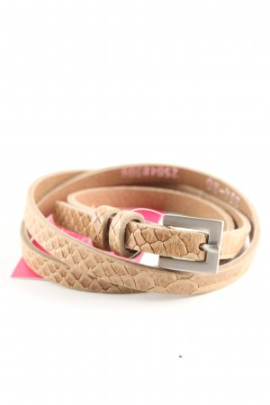 More & More Cintura di pelle color carne-crema motivo animale stile casual