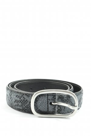 More & More Leather Belt black-light grey allover print casual look