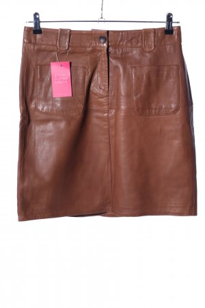 More & More Leather Skirt brown casual look