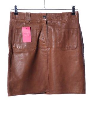 More & More Jupe en cuir brun style décontracté