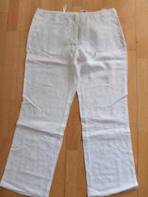 More & More leichte weiße Sommerhose aus Leinen Größe 42 Neu