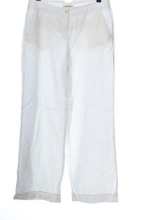 More & More Lniane spodnie biały W stylu casual
