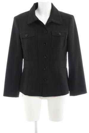 More & More Long-Blazer schwarz schlichter Stil
