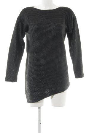 More & More Jersey largo negro tejido mezclado