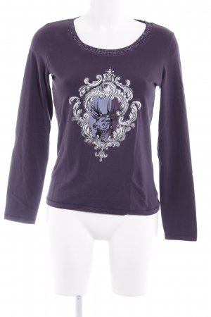 More & More Longsleeve braunviolett Casual-Look