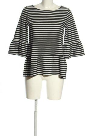 More & More Longsleeve schwarz-weiß Streifenmuster Casual-Look