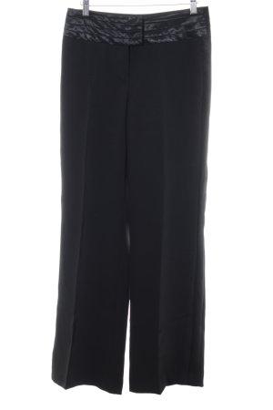 More & More Pantalón anchos negro estilo «business»