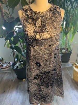 More & More Robe mi-longue noir-blanc