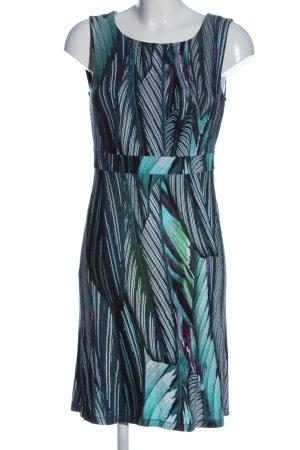 More & More Minikleid türkis-grün abstraktes Muster Casual-Look