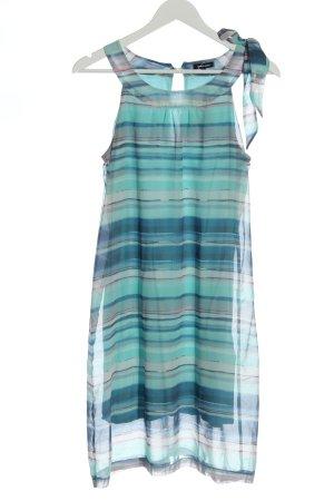 More & More Mini Abito turchese-blu motivo a righe stile casual