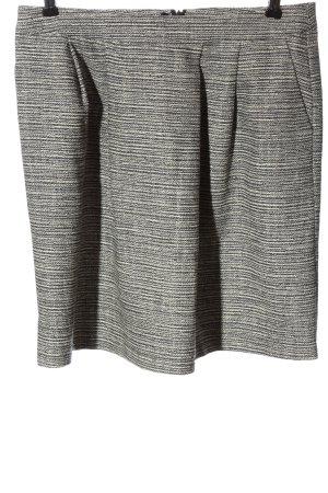 More & More Mini-jupe noir-blanc cassé motif rayé style décontracté