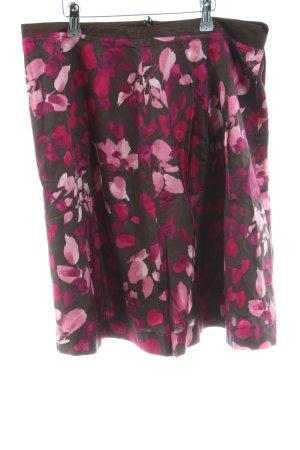 More & More Mini rok zwart-roze volledige print casual uitstraling