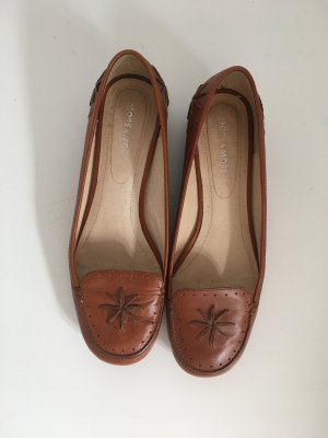 More & More Slip-on Shoes cognac-coloured