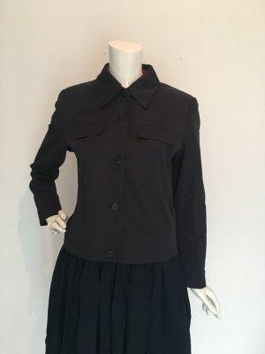 More&More More & More Jacke Blazer Blusenjacke seitliche Taschen Knöpfe leicht gefüttert dunkelblau fast schwarz Navy