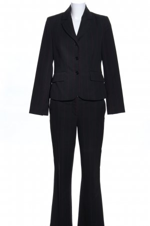More & More Pinstripe Suit black business style