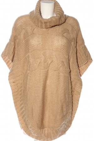 More & More Poncho nude Zopfmuster Casual-Look