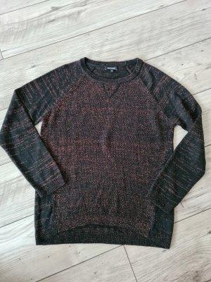 More&More Pulli Pullover s 36 schwarz Glitzer kupfer