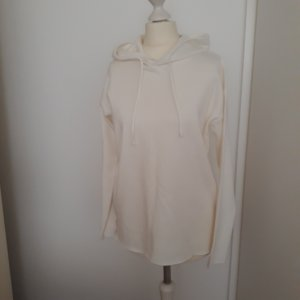 MORE & MORE Pullover (Sweatshirt) m. Kapuze ecru Gr. 36