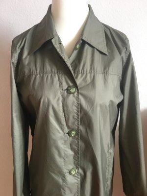 More&More Regenmantel Gr. 36/38 khaki/türkis