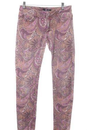 More & More Röhrenhose hellbraun-pink Casual-Look