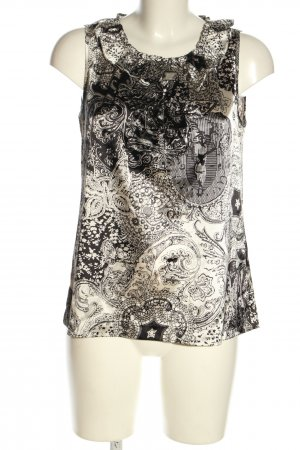 More & More Top z falbankami jasnoszary-czarny Abstrakcyjny wzór W stylu casual