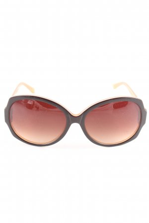 More & More runde Sonnenbrille braun Casual-Look