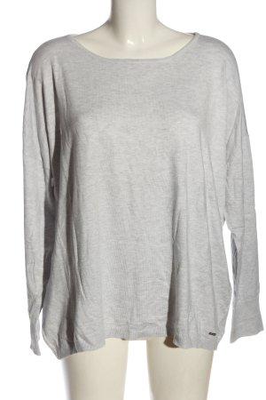 More & More Sweter z okrągłym dekoltem jasnoszary Melanżowy Prosty styl