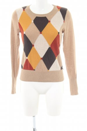 More & More Rundhalspullover grafisches Muster Casual-Look