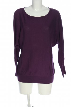 More & More Rundhalspullover lila Casual-Look