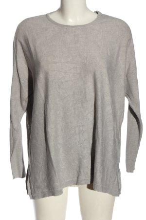More & More Sweter z okrągłym dekoltem jasnoszary Melanżowy W stylu casual