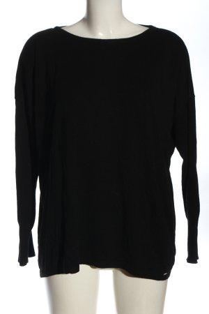 More & More Sweter z okrągłym dekoltem czarny W stylu casual