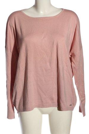 More & More Sweter z okrągłym dekoltem różowy W stylu casual