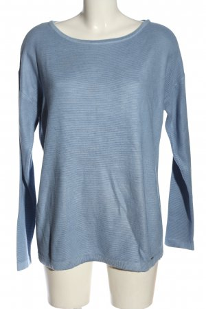 More & More Rundhalspullover blau Casual-Look
