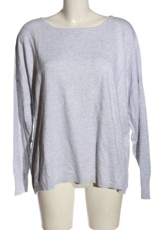 More & More Sweter z okrągłym dekoltem jasnoszary Melanżowy Elegancki