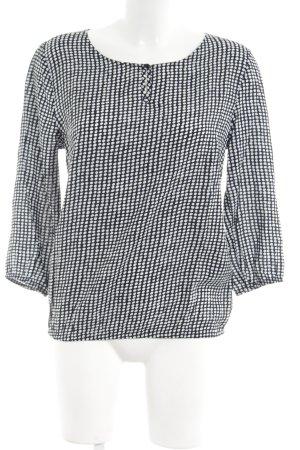 More & More Schlupf-Bluse weiß-schwarz Punktemuster Business-Look